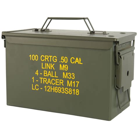 Ammo Storage Container - mil tec m2a1 cal 50 us army ammo steel box range storage tool container olive ebay