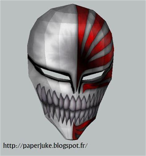 Ichigo Hollow Mask Papercraft - ichigo s hollow mask papercraft papercraft paradise