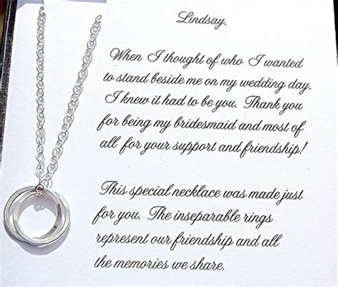 Thank You Note For Donation In Honor Of Someone Will You Be My Bridesmaid Gift Of Honor Bridesmaid