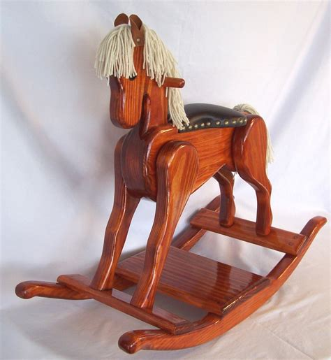 Handmade Wooden Rocking Horses - handcrafted wooden rocking heritage editon pony