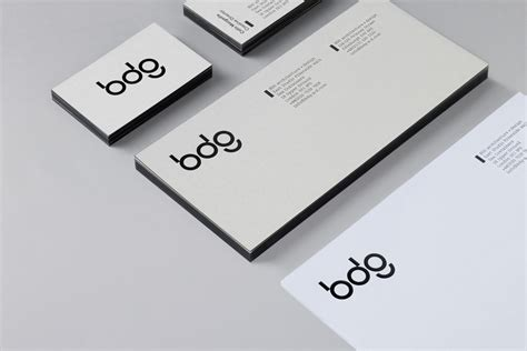 id card design manual cool minimalist and iconic brand identity for bdg by san