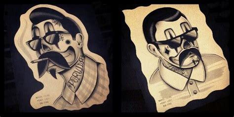 payaso tattoo designs chicano payasos clowns tattoos porvida gangster