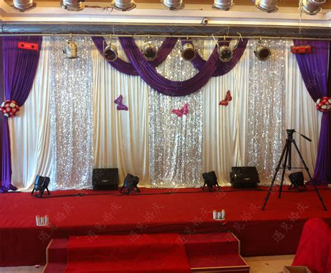 backdrop curtains for sale hot sale wedding backdrop curtain for ice silk fabric 3 6