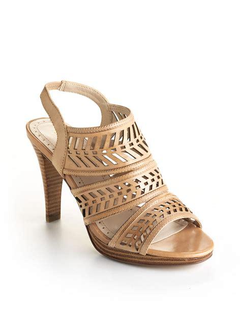 adrienne vittadini sandals adrienne vittadini prim leather slingback sandals in beige