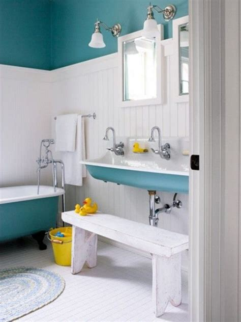 Teal And White Bathroom Teal And White Wee Bathroom For The Home Pinterest