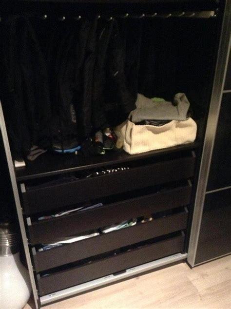 kleiderschrank weiß schwarz ikea kommode passend zu pax nazarm