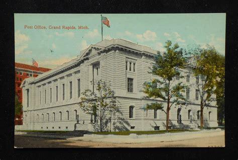Grand Rapids Post Office by 1910s Post Office Grand Rapids Mi Kent Co Postcard