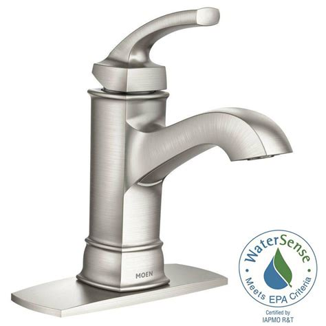kitchen sink faucets moen moen hensley single 1 handle bathroom faucet featuring microban protection in spot resist