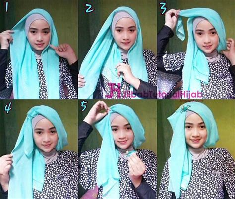 tutorial hijab turban segi empat simple jilbab tutorial
