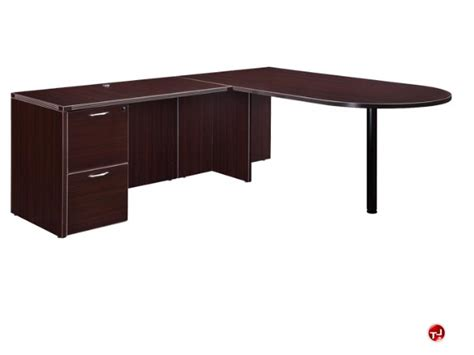 l shaped peninsula desk the office leader dmi fairplex 7004 4546e laminate 72 quot l