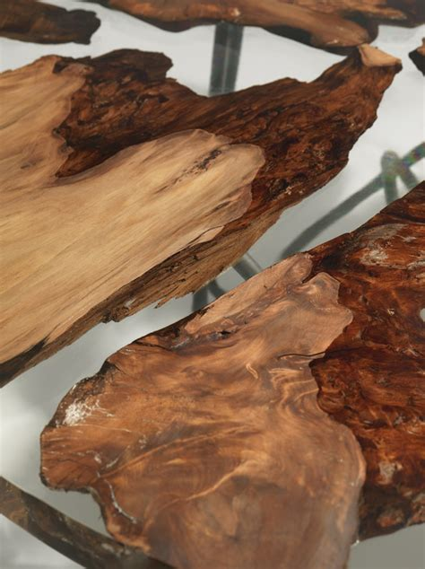 wood and resin table sculptural resin table made from 50 000 year kauri wood