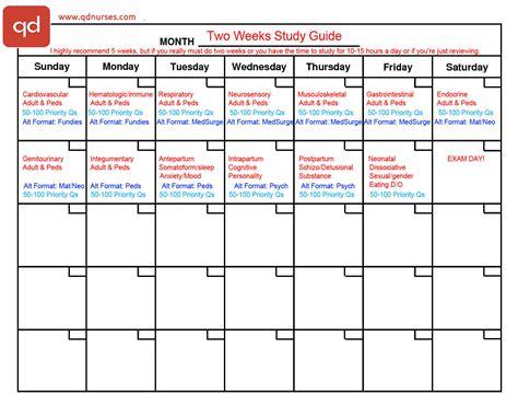 2 Study Plans You Need To Pass The Nclex Qd Nurses Nclex Study Plan Template