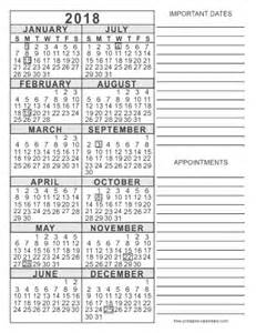 Calendar 2018 Printable With Notes 2018 Free Printable Calendars Free Printable Calendars