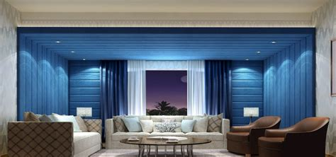 home interior design of hall interior design 3d blue concert hall