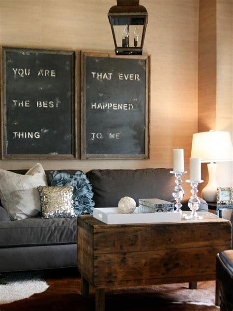 diy rustic living room 20 almost free living room updates hgtv
