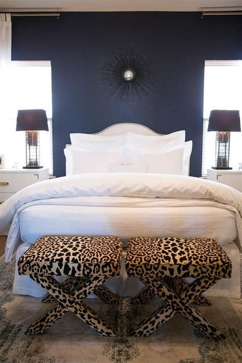 navy blue bedroom walls white and navy blue bedroom features an accent wall