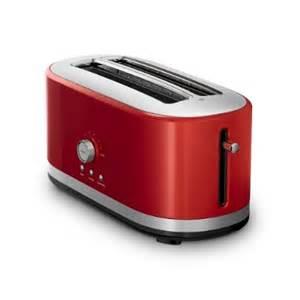 Red Long Slot Toaster New Kitchenaid 174 Toasters Large Capacity Sleek Design