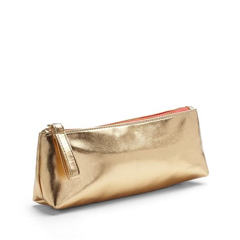 Pencil Pouch gold metallic pencil pouch