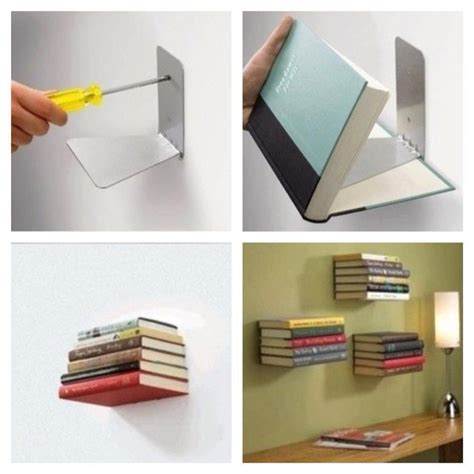 diy invisible floating bookshelf diy make it