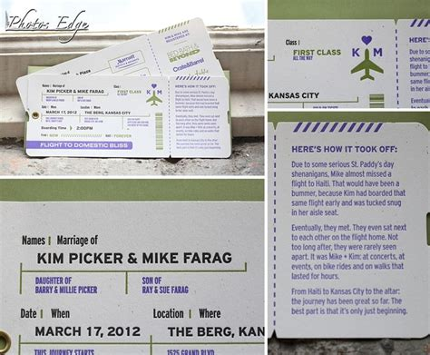 Wedding Invitations Kansas City by 17 Best Images About Airplane Ticket Invitation On