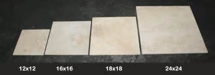 Kitchen Floor Tile Size Travertine