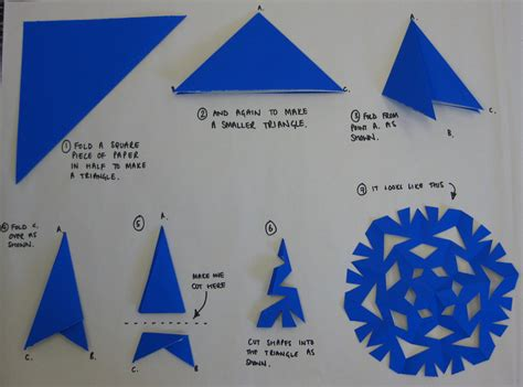 Make Snowflake Paper - how to make a paper snowflake schoolofeverything flickr