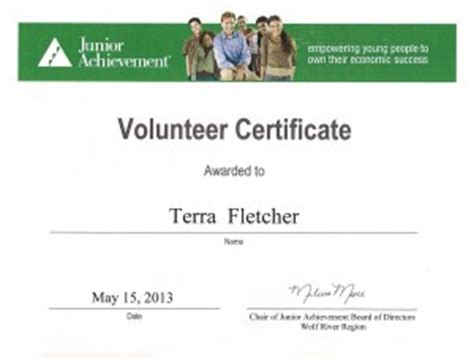 junior achievement certificate template junior achievement certificate template image collections
