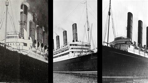 titanic vs boat aquitania vs mauretania vs lusitania ship comparison