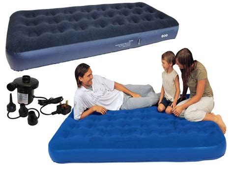 single flocked air bed cing relax airbed mattress w