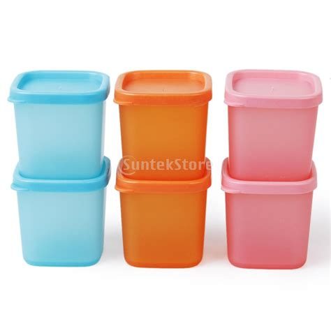 Seasoning Containers ξ6pcs Reusable Outdoor Picnic Picnic Bbq Cing