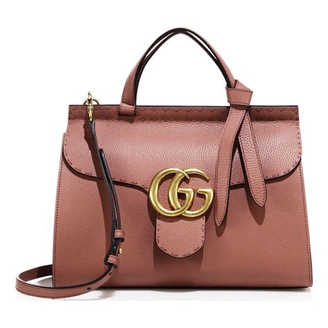 gucci gg marmont leather top handle bag nudevotion