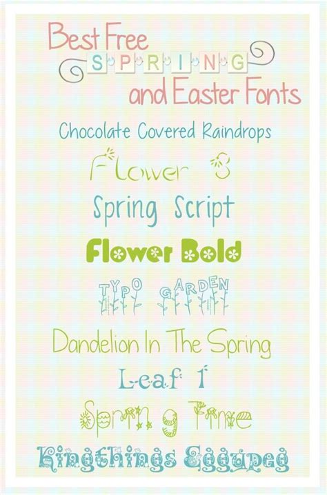 printable easter fonts best free spring and easter fonts
