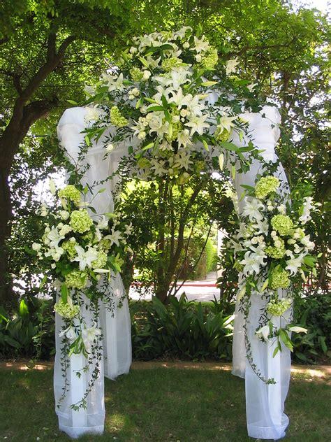 Wedding Arbor Fabric by Decorated Wedding Arbors Alamo Plants Petals