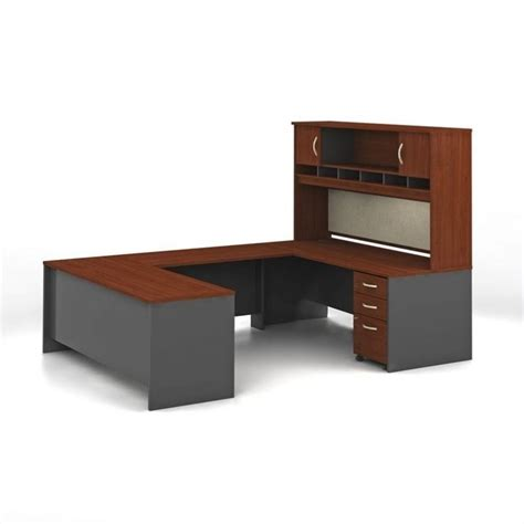 C Shaped Desk Bush Business Series C Hansen Cherry Executive U Shaped Desk Src004hc