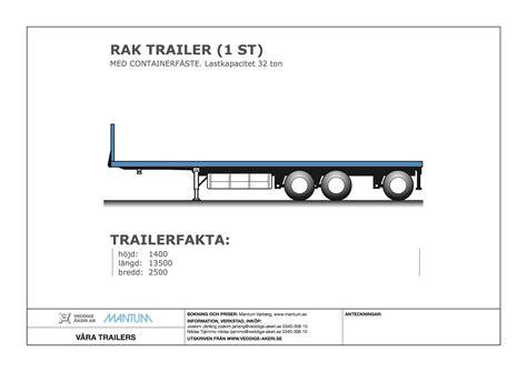 Rak Rv v 197 ab trailer veddige 197 ab