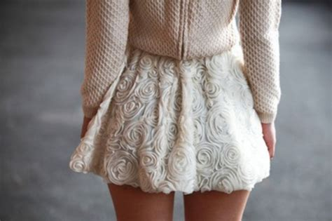 Pearl Knit Skirt skirt skirt beautiful flowers white flowers