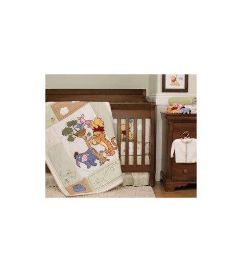 kidsline winnie the pooh friends indeed baby crib bedding