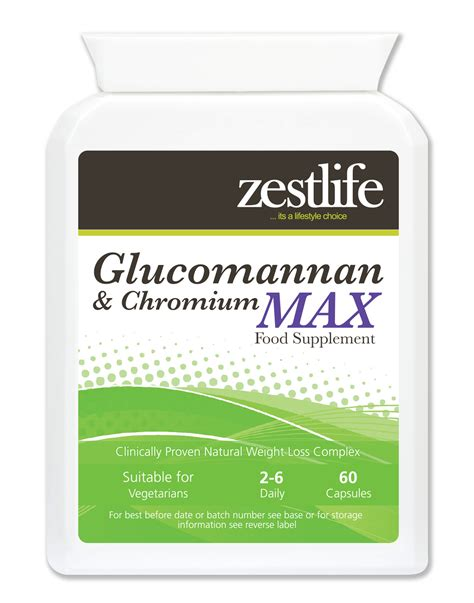 Does Chromium Detox Copper by Zestlife Glucomannan Chromium Max Konjac 60 Caps Zestlife