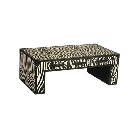 black and white zebra print coffee table forever