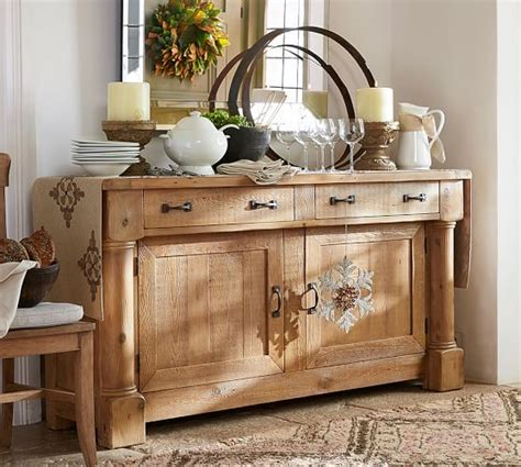 buffet ls pottery barn charles reclaimed wood buffet smoked pine finish