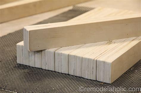 diy plywood bench remodelaholic diy modern plywood bench tutorial half