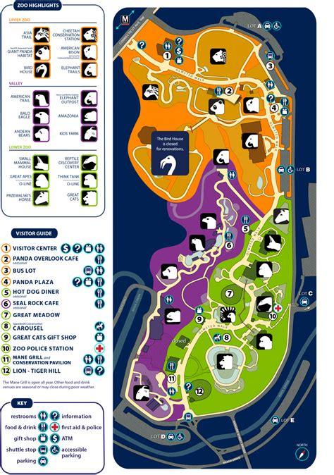 national zoo map zoo map smithsonian s national zoo