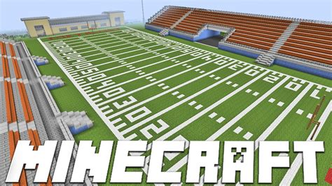 How To Make A Football Field Out Of Paper - minecraft american football stadium