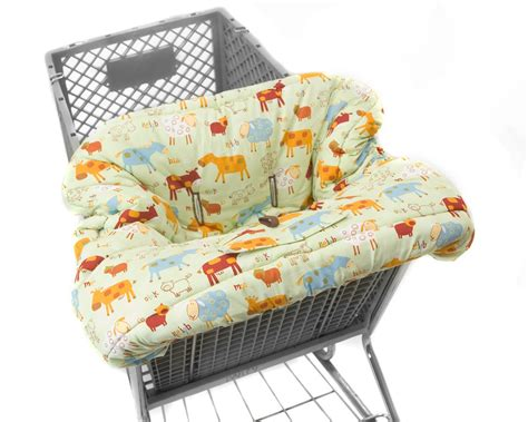 Handmade Shopping Cart Covers - shopping cart covers 4 babies farm animals by