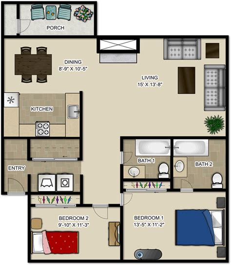 2 bedroom apartments under 1000 pricing and floor plans maple glen apartments