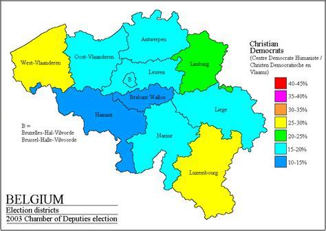belgium geographical map belgium legislative election 2006 electoral geography