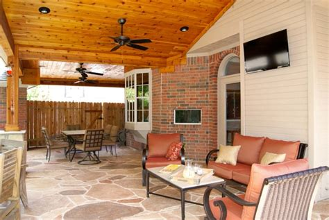 Houses With Porches Patio Covers Houston Dallas Pergolas Patio Design Katy