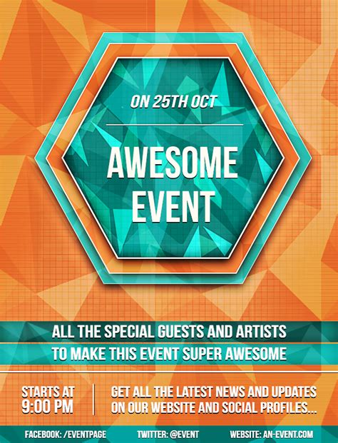 design flyer photoshop create a bright geometric event flyer in photoshop sitepoint