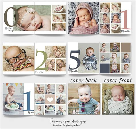 baby album templates for photographers 12x12 baby album photoshop template newborn photo album