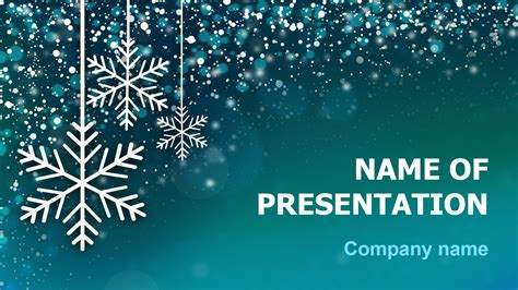 Download Free Snow Snowflakes Powerpoint Template And Theme For Your Presentation Microsoft Powerpoint Templates Snowflakes